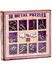 SET 10 MINI METAL PUZZLE MORADO | 5425004733597